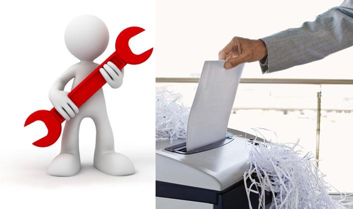Các lỗi thường gặp ở máy hủy tài liệu và cách để khắc phục