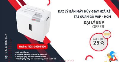 Đại lý bán Máy hủy giấy - Máy hủy tài liệu giá rẻ tại Quận Gò Vấp, HCM