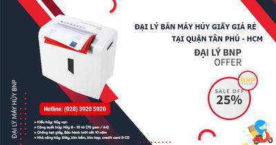 Đại lý bán Máy hủy giấy - Máy hủy tài liệu giá rẻ tại Quận Tân Phú, HCM