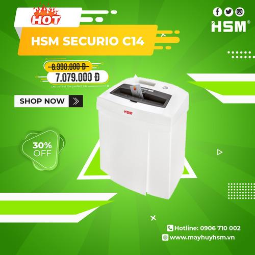 Máy Hủy giấy HSM Securio C14 - Hình 1