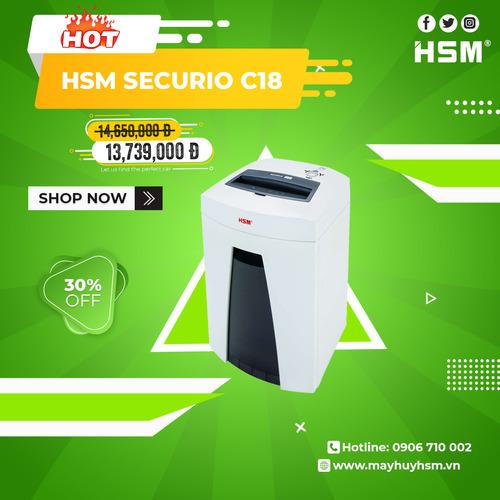 Máy Hủy Giấy HSM Securio C18 3,9mm - Hình 1