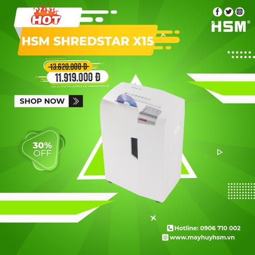 Máy hủy giấy HSM Shredstar X15 4x35mm - Hình 1