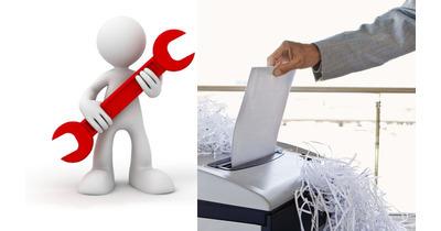 Hướng dẫn khắc phục máy hủy chậm và hủy không hết giấy
