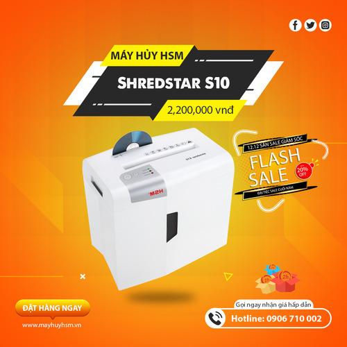 Máy hủy giấy HSM Shredstar S10 6mm - Hình 1