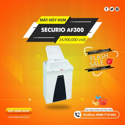 Máy Hủy Giấy HSM Securio AF300 1,9x15mm - Hình 1