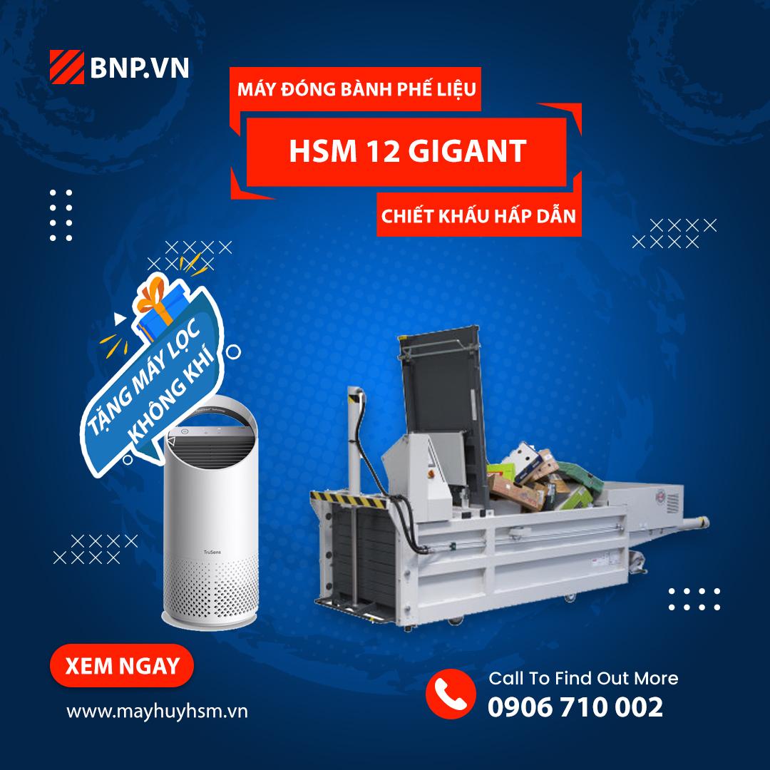 Chương trình ưu đãi Máy đóng bành phế liệu HSM 12 Gigant