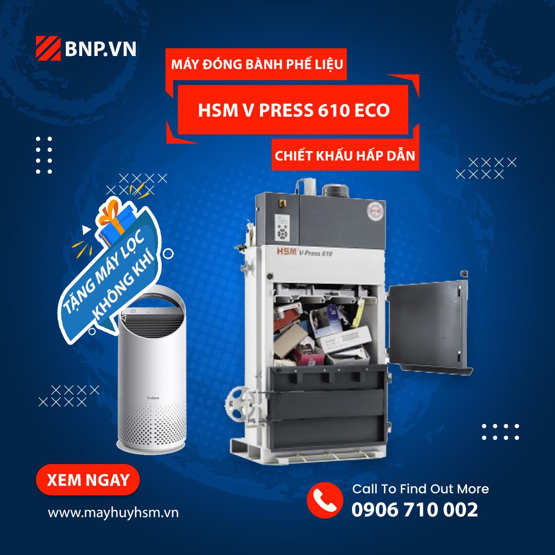 Chương trình ưu đãi Máy đóng bành phế liệu HSM V Press 610 Eco