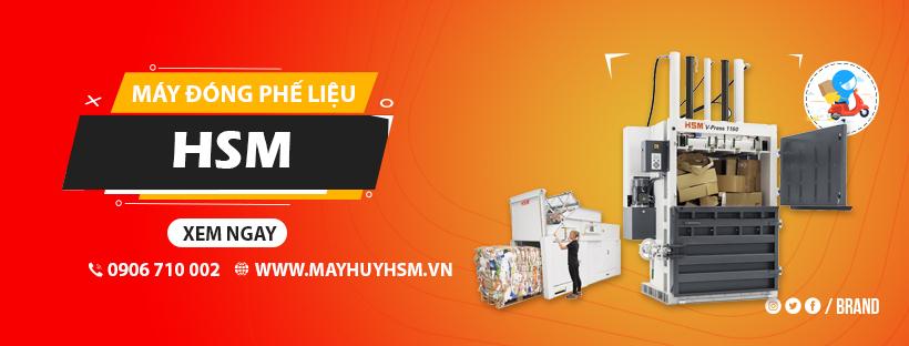 Máy đóng bành phế liệu - Máy ép giấy phế liệu của HSM