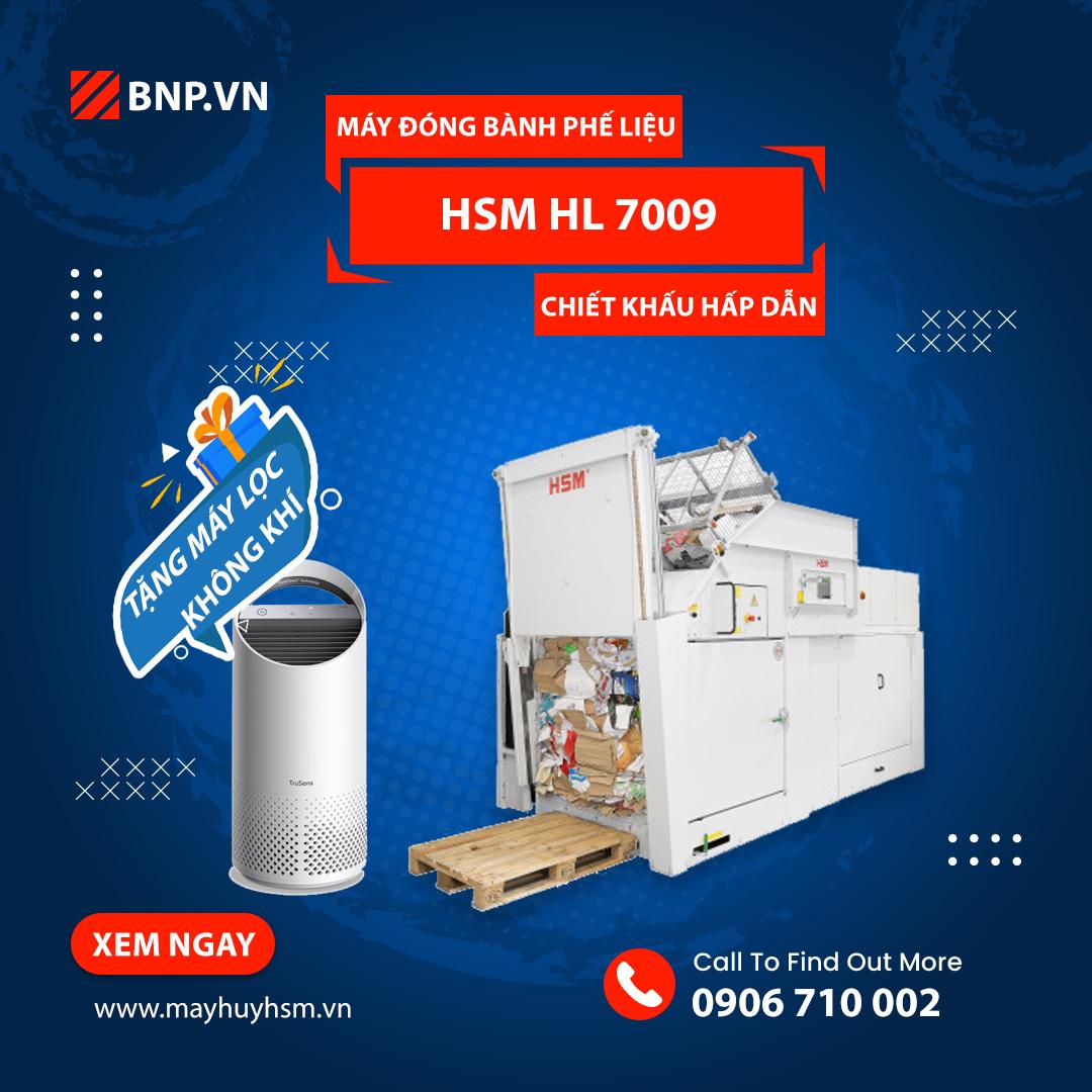 Chương trình ưu đãi Máy đóng bành phế liệu HSM HL 7009