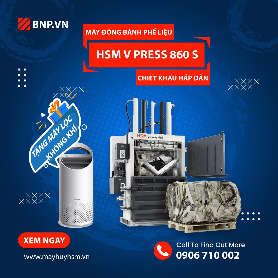 Chương trình ưu đãi Máy đóng bành phế liệu HSM V Press 860 S