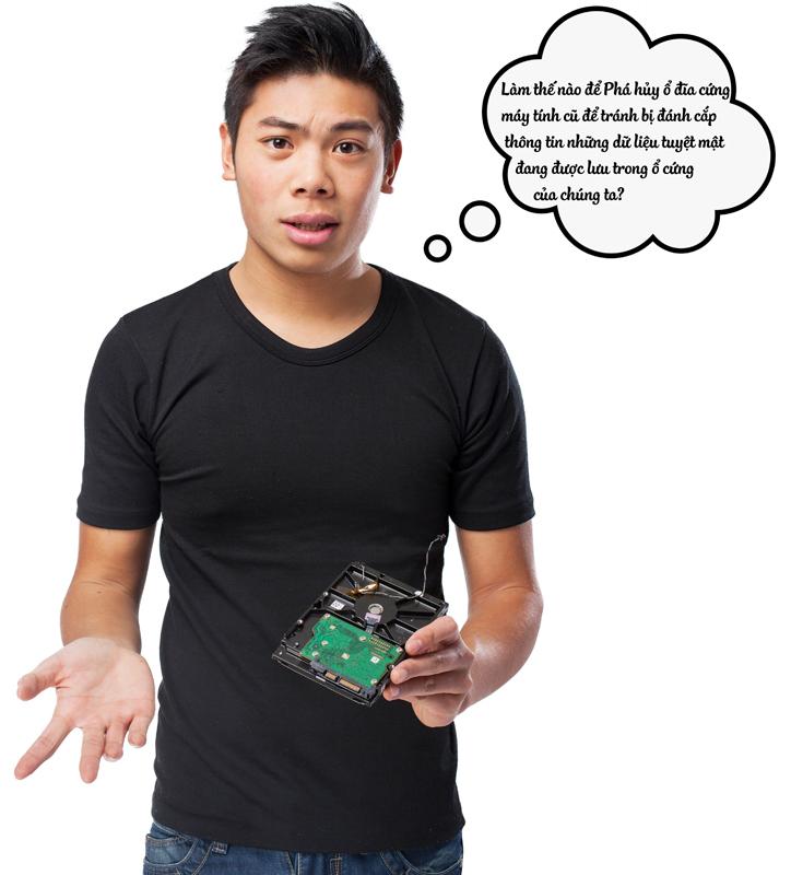 Làm thế nào đểPhá hủy ổ đĩa cứng máy tính cũ để tránh bị đánh cắp thông tin