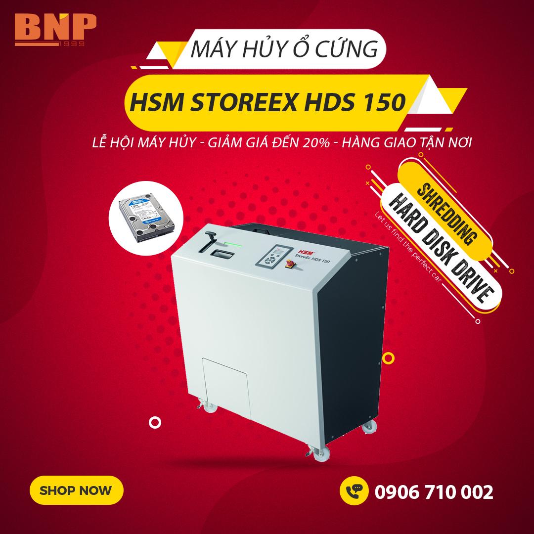 Giới thiệu sản phẩm:Máy hủy ổ đĩa cứng HSM StoreEX HDS 150