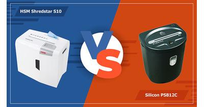 So sánh máy hủy tài liệu HSM S10 với Silicon PS812C
