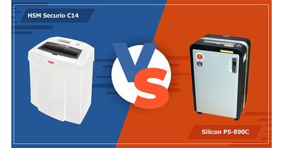 So sánh máy hủy tài liệu HSM Securio C14 & Silicon PS-890C