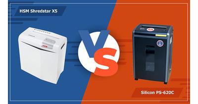 So sánh máy hủy tài liệu HSM Shredstar X5 & Silicon PS-620C