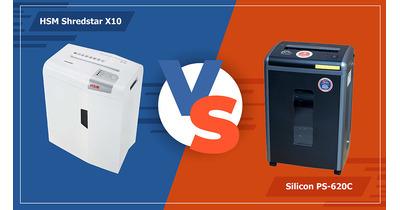 So sánh máy hủy tài liệu HSM X10 với Silicon PS-620C